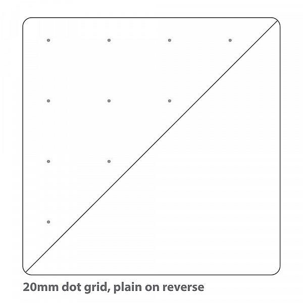 DLS20 B 20mm dot grid plain on reverse